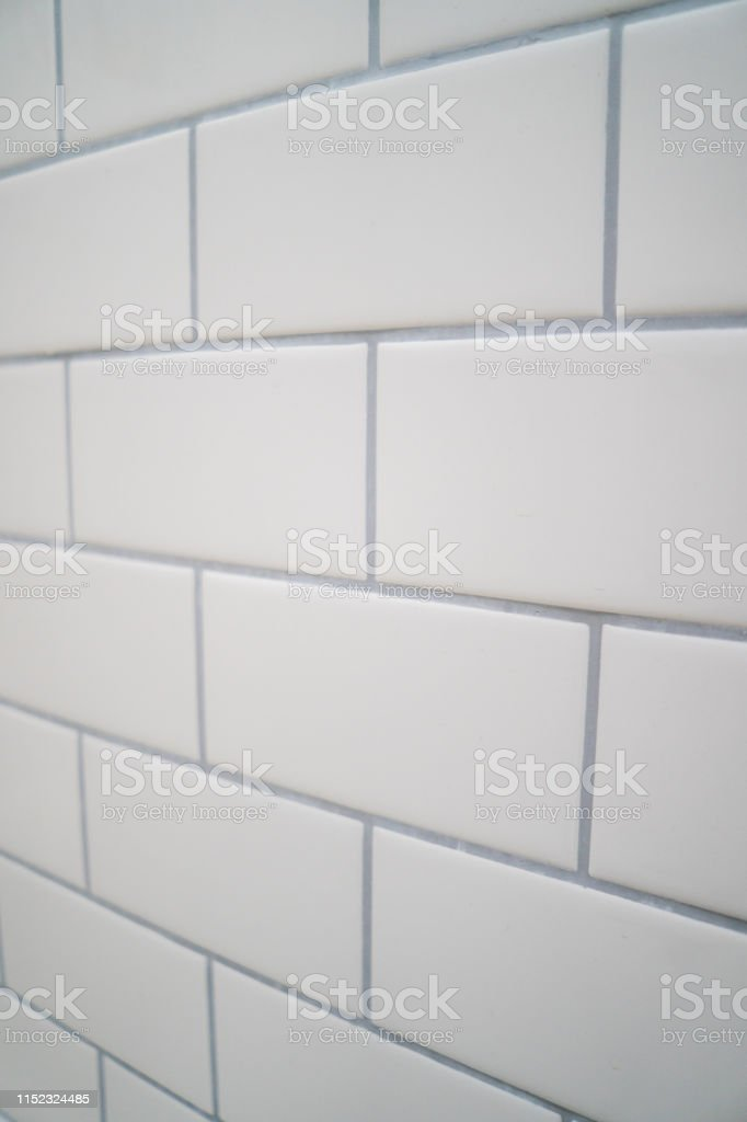 white subway tile with gray grout stock photo download image now istock