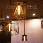 Wire Lampshades Of Urban Style Pendant Lights Closeup Stock Photo Download Image Now Istock