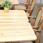 Wooden Cafe Outdoors Chairs Stock Photo Download Image Now Istock