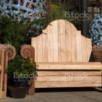 Wooden Garden Bench And Planters For Sale At Local Garden Center Stock Photo Download Image Now Istock