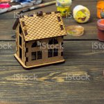 Wooden House Among The Old Paint Stock Photo Download Image Now Istock
