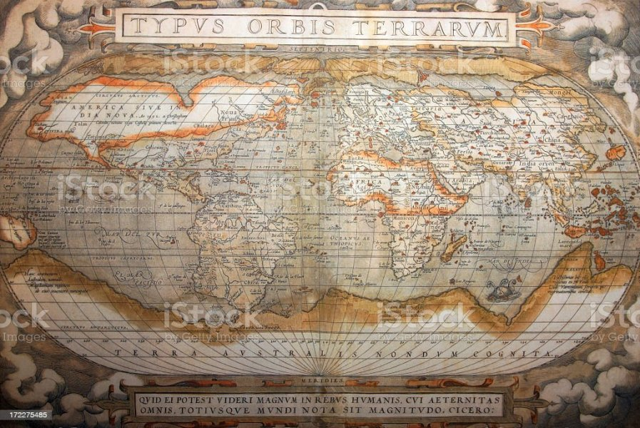 World Map 1492 Stock Photo   More Pictures of Ancient   iStock