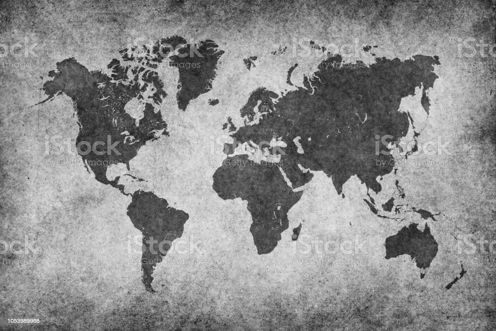 world map paper vintage black white stock photo download image now istock