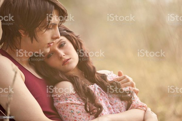 Young Man Holding His Girlfriend In His Arms Stock Photo ...