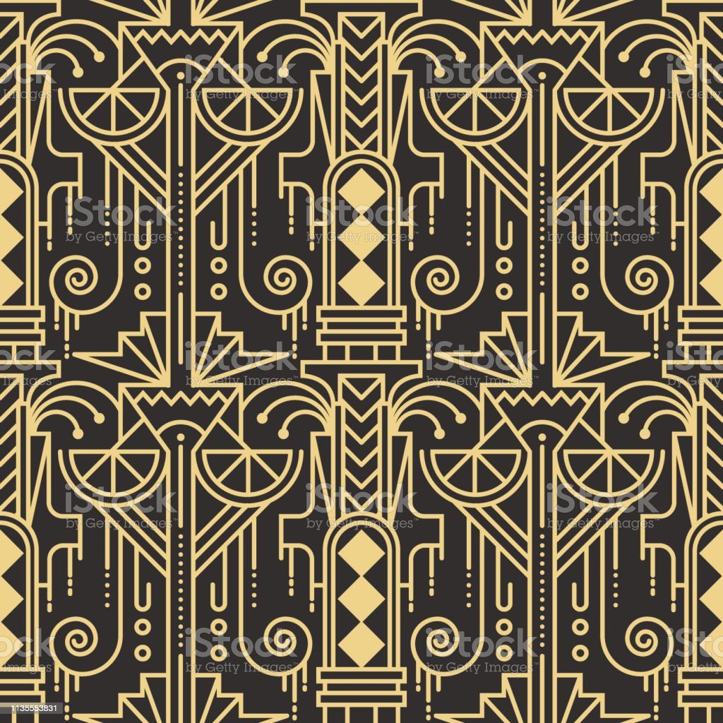 abstract art deco seamless modern tiles pattern stock illustration download image now istock