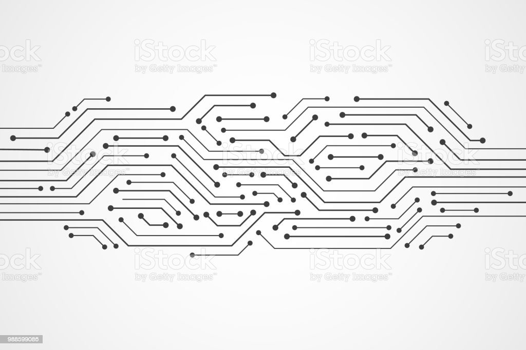 Abstract Technology Background Circuit Board Pattern Stock