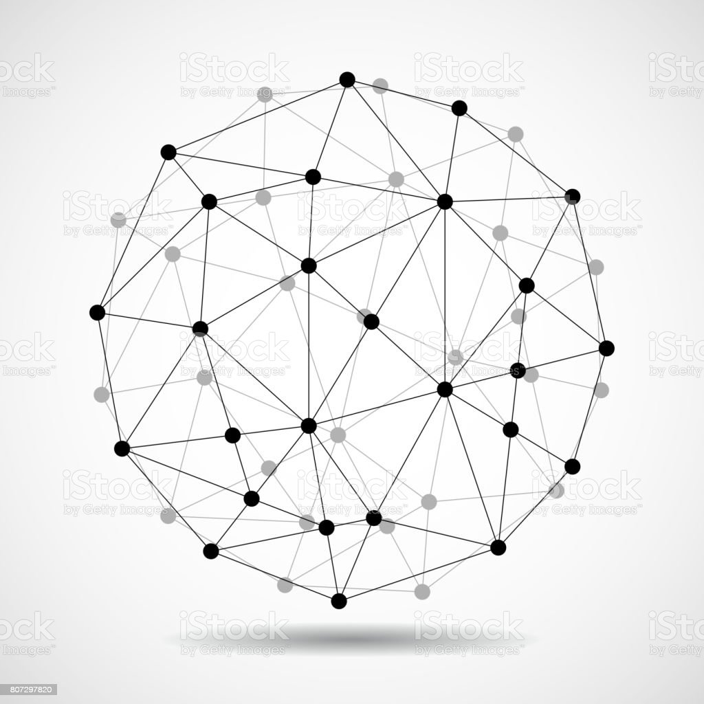 Abstract wireframe globe sphere stock vector art more images of