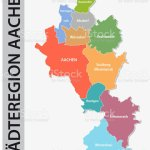 Administrative And Political Map Of Aachen Region In German Language Stock Illustration Download Image Now Istock