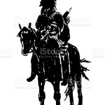 American Indian Riding A Horse Sketch Vector Illustration Stock Illustration Download Image Now Istock