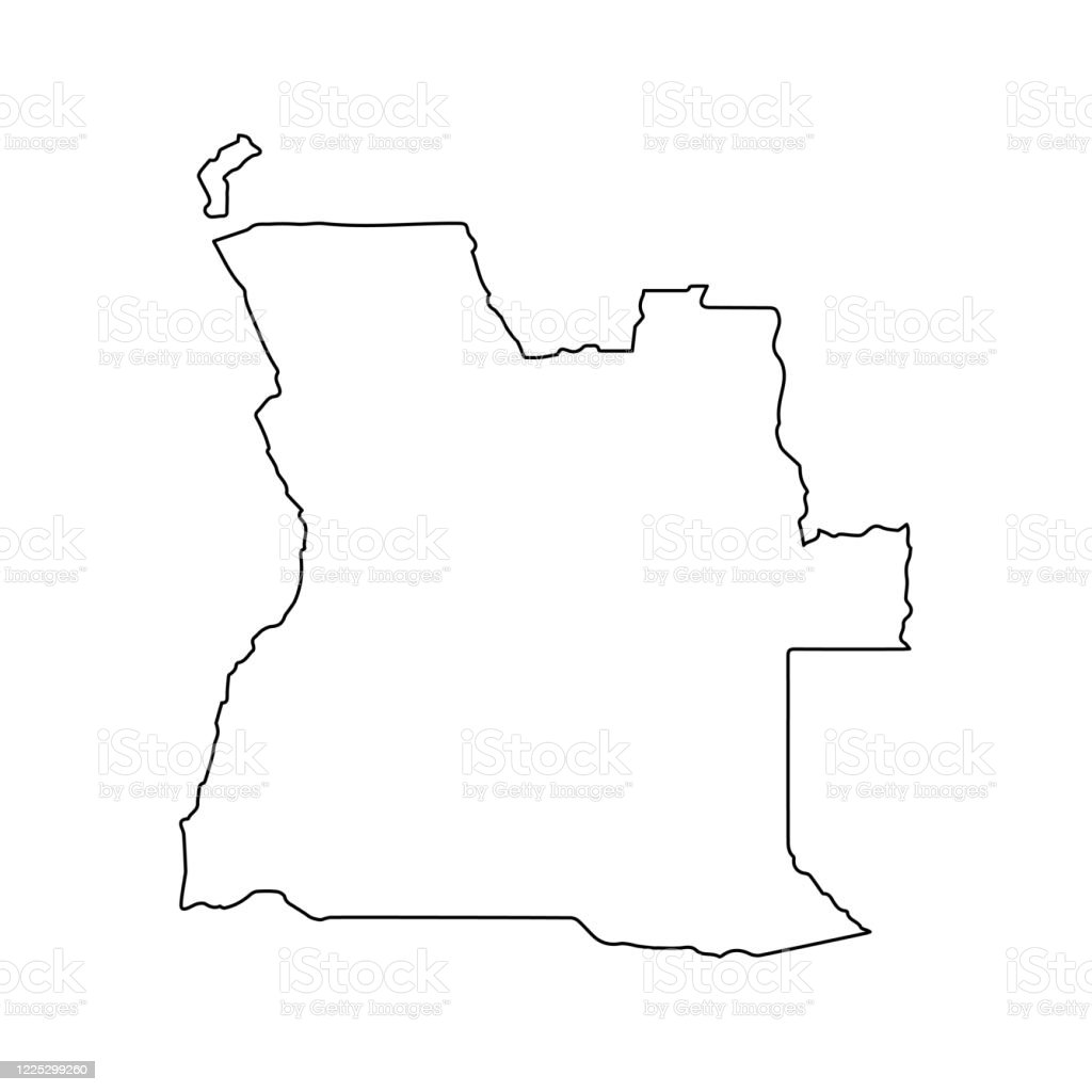Angola Map Line Outline Country Africa Map Illustration Vector African Isolated On White Background Stock Illustration Download Image Now Istock