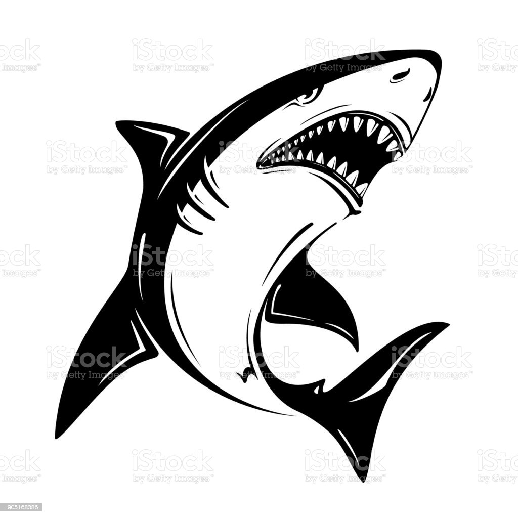 Royalty Free Shark Jaws Clip Art Vector Images