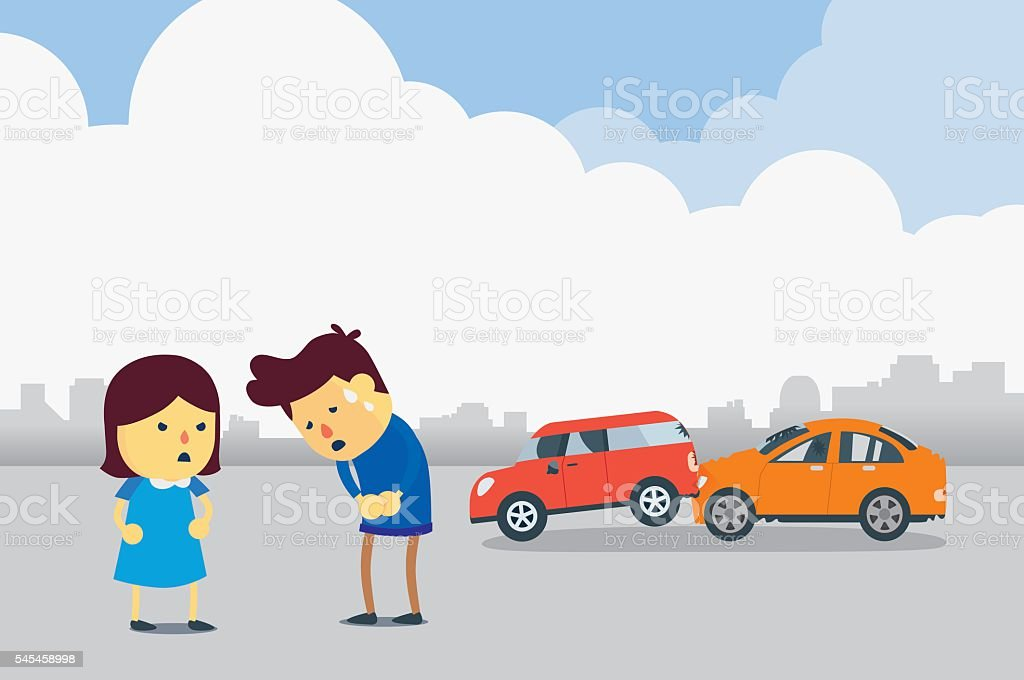 Royalty Free Car Accident Scene Clip Art, Vector Images