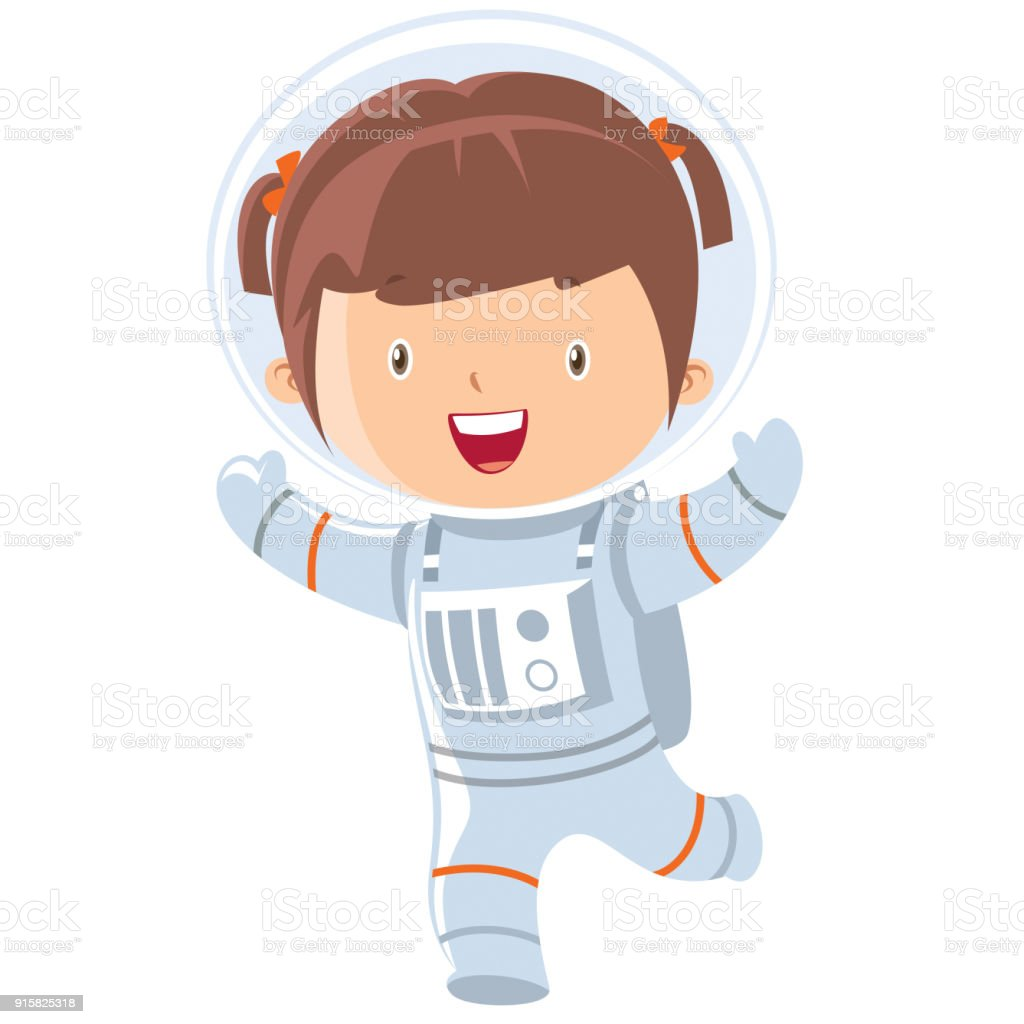 Astronaut Girl Stock Illustration - Download Image Now ...