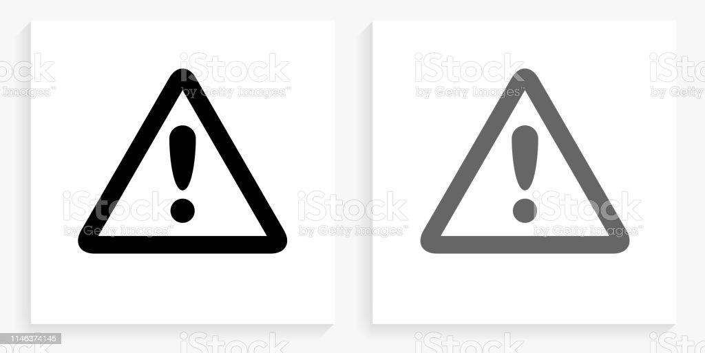 signe de lattention noir et blanc carre icone vecteurs libres de droits et plus d images vectorielles de danger istock