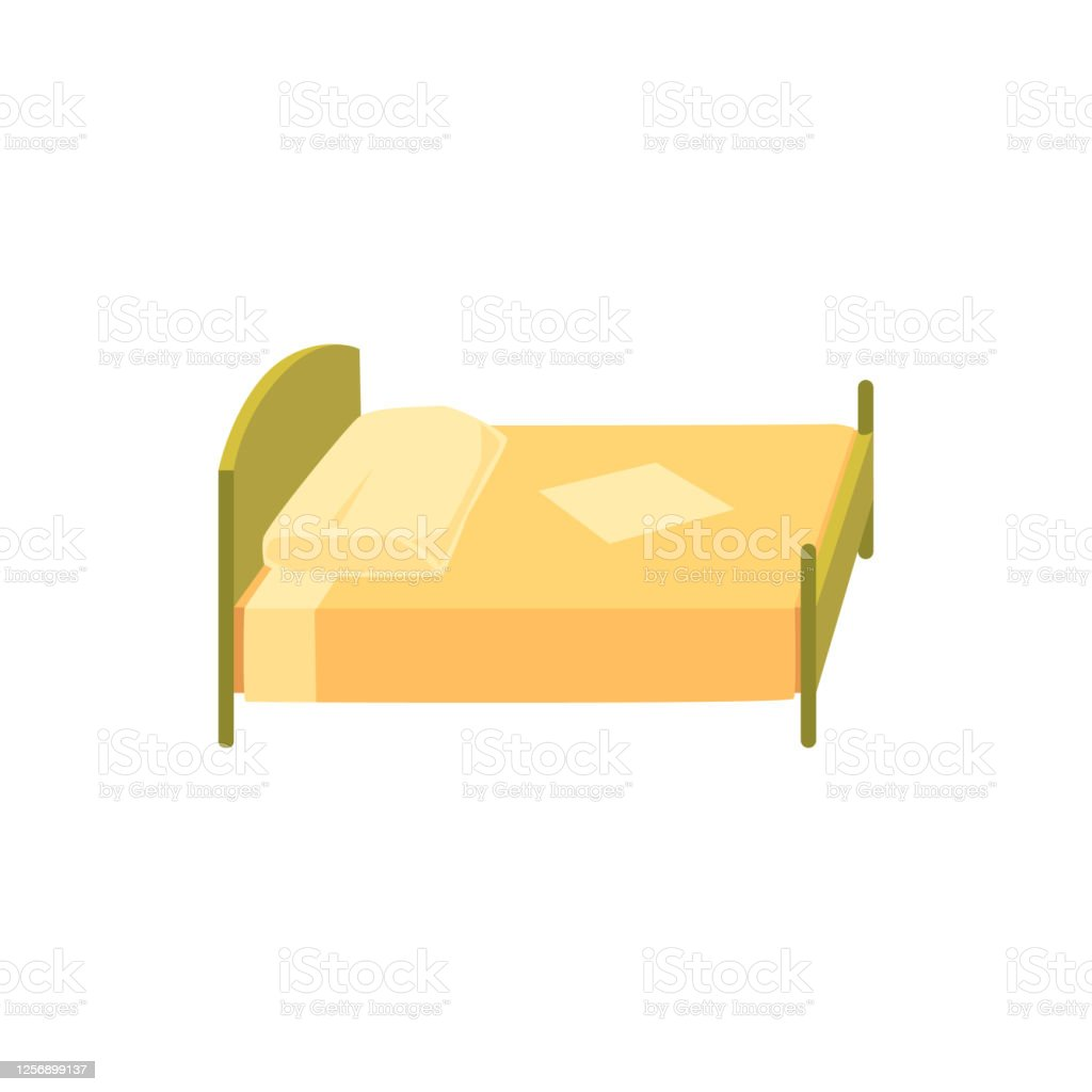 baby bed with blanket and pillow cartoon icon flat vector illustration isolated stock illustration download image now istock