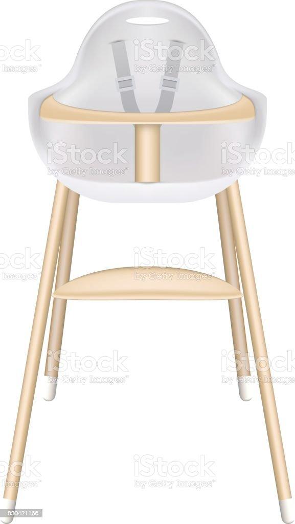 https www istockphoto com fr vectoriel chaise haute de b c3 a9b c3 a9 avec les ceintures de s c3 a9curit c3 a9 isol c3 a9 sur fond blanc gm830421166 139019119
