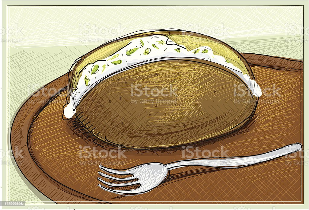 Royalty Free Baked Potato Clip Art, Vector Images