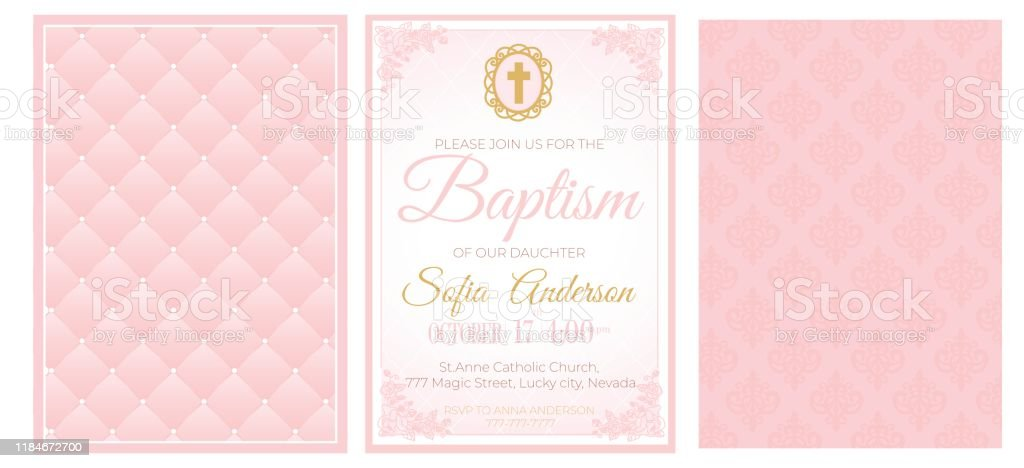 39 baptism christening religious occasion invite invitation template cross flowers illustrations clip art istock
