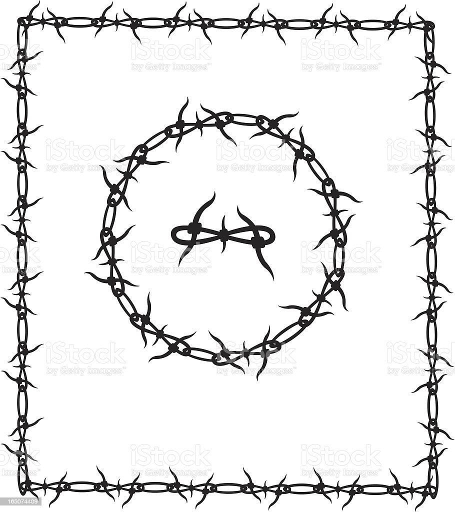 Barbed wire border frame stock vector art 165074409 istock