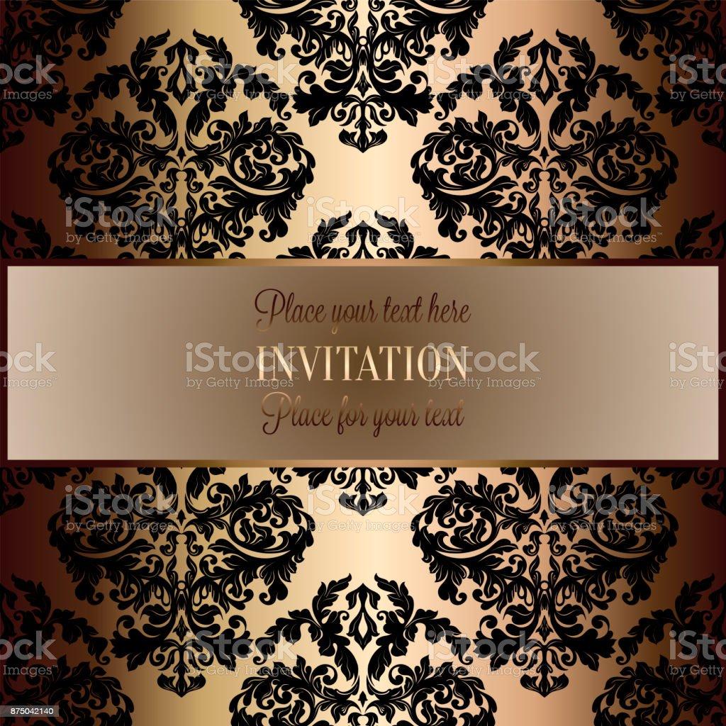 https www istockphoto com fr vectoriel fond baroque avec antique le luxe noir et or cadre vintage banni c3 a8re victorienne gm875042140 244305883