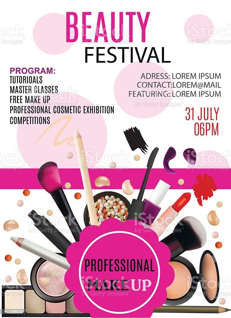 Beauty Festival Poster Design Stock Vector Art Amp More