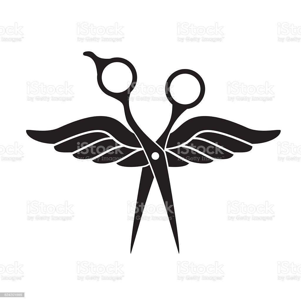 Beauty Salon Logo With Black Scissors Stock Vector Art