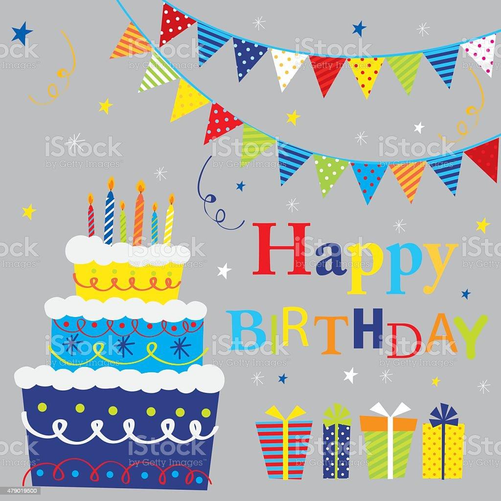 誕生日ケーキ イラスト素材 Istock