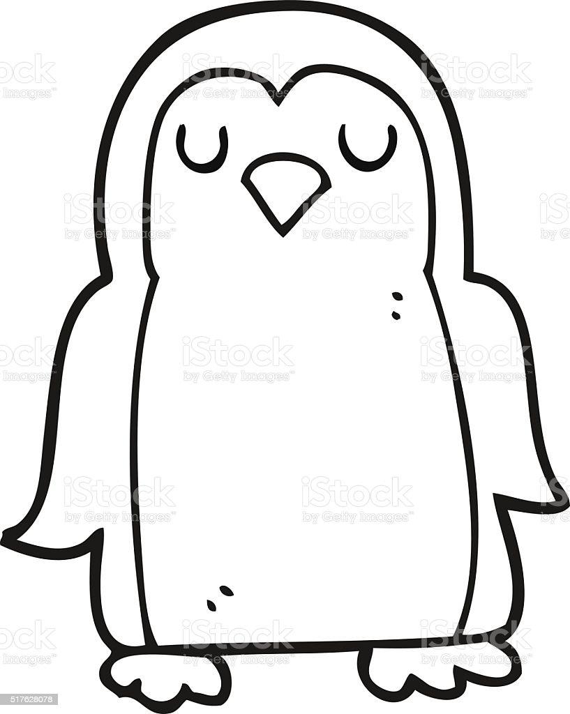 Schwarz Und Wei Comic Vogel Stock Vektor Art Und Mehr