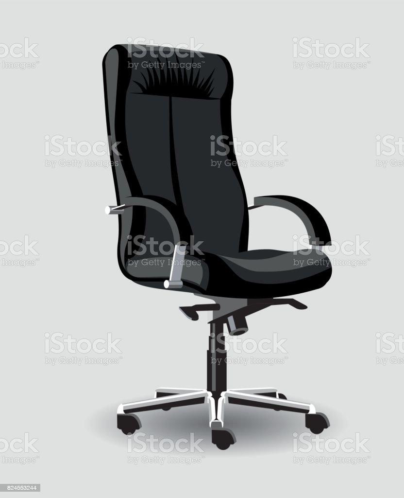 chaise reglable de bureau en cuir noir detail eleve a bras pour le patron chaise reglable