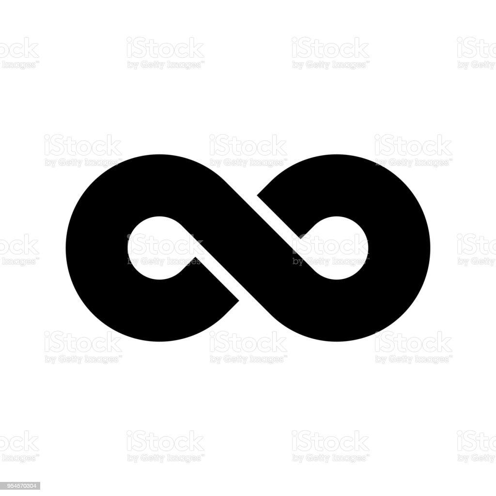 黑色無窮符號圖示無限的 無限的 無盡的概念簡單平面向量設計單元向量圖形及更多一組物體圖片 - iStock