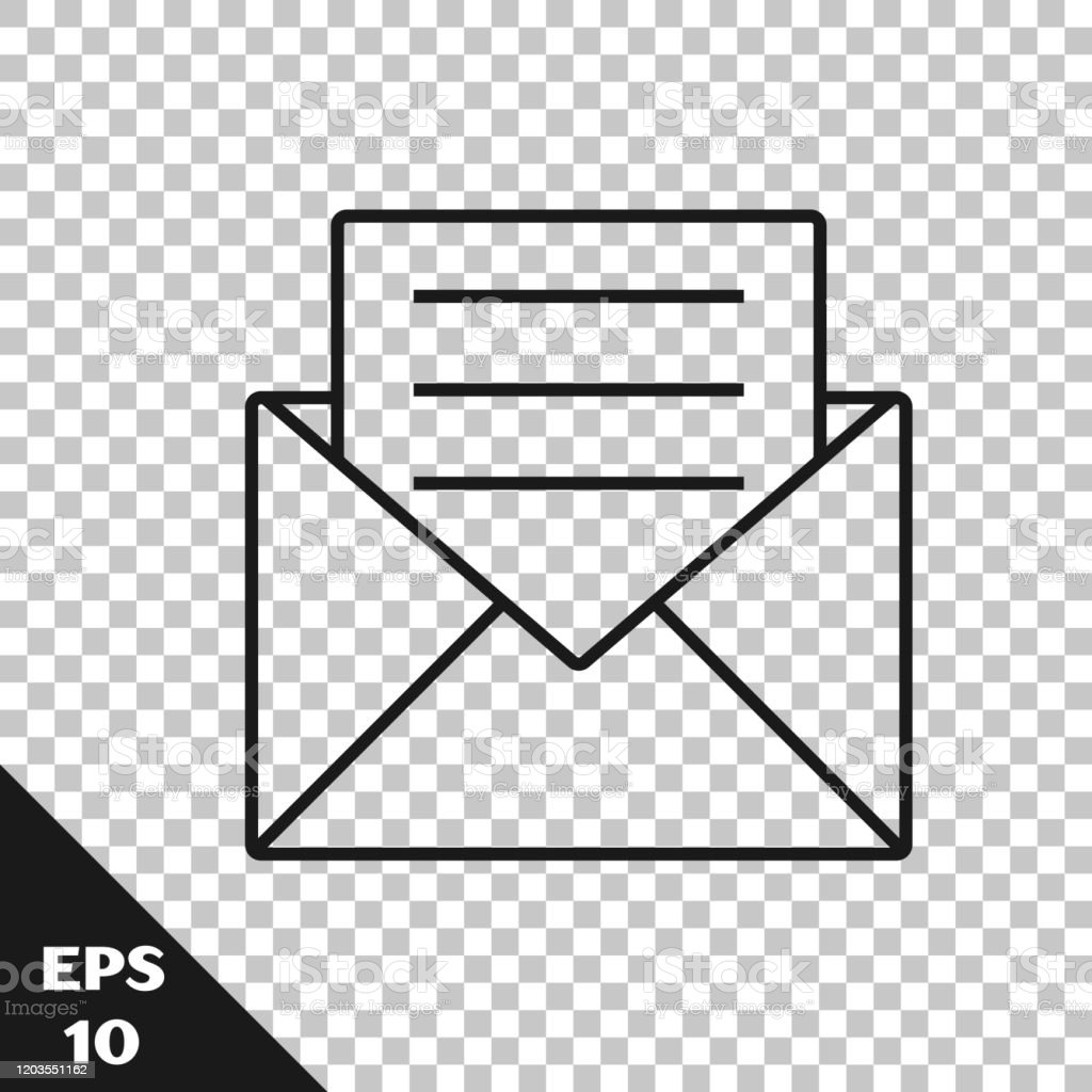 https www istockphoto com vector black line envelope with invitation card icon isolated on transparent background gm1203551162 345956134