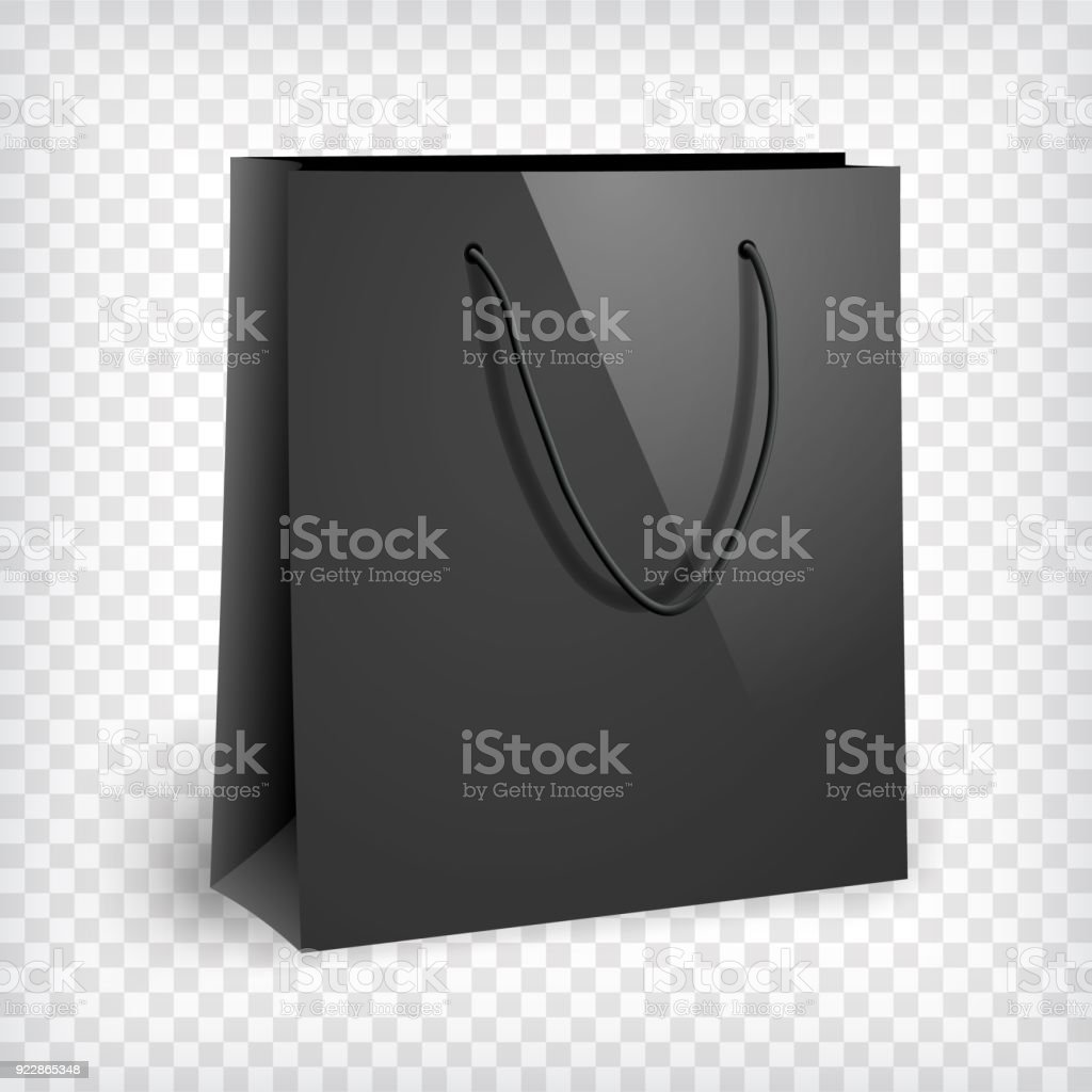 The psd file is fully editable, allowing you to change the background and apply your own design easily via the smart object. Blank Black Shopping Bag Mockup Stock Illustration Download Image Now Istock