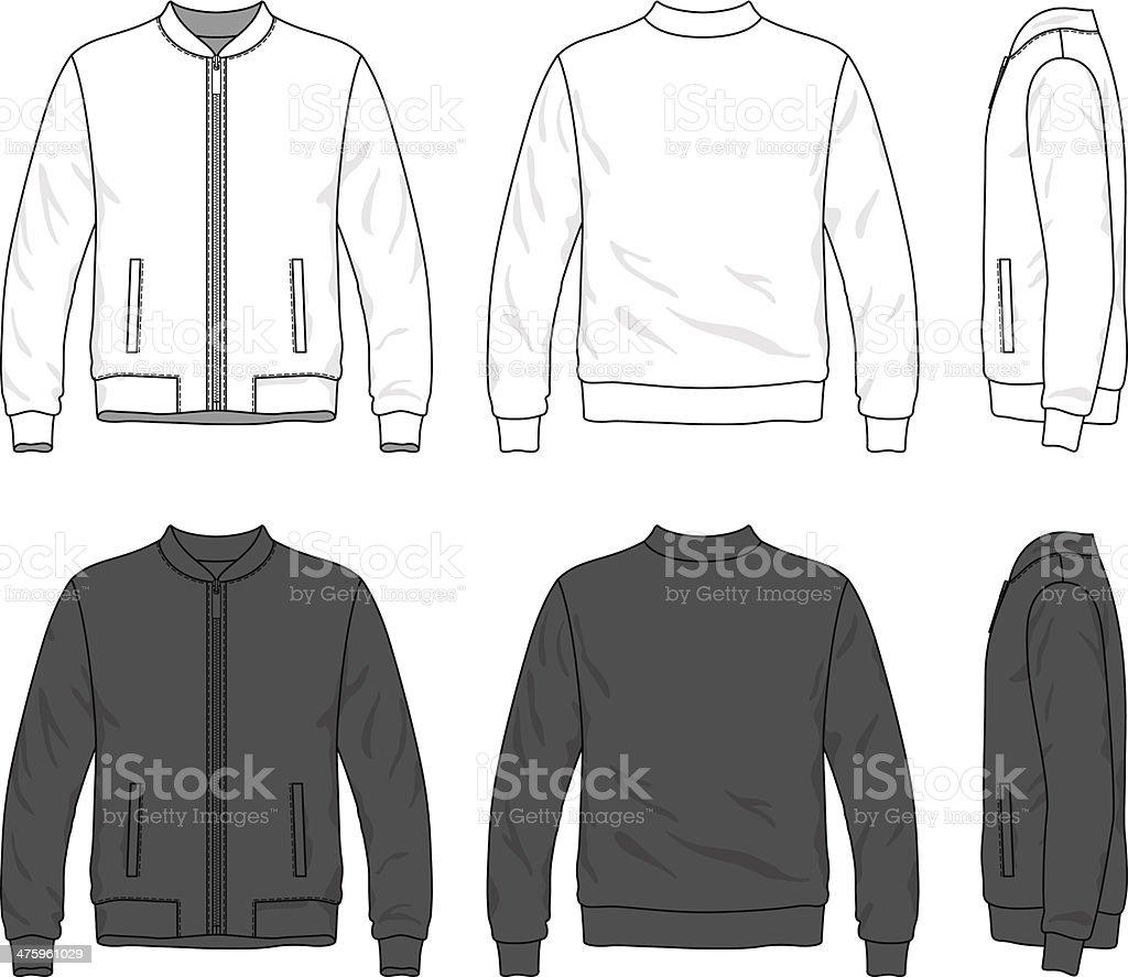Blank Bomber Jacket With Zipper Stock Vector Art 475961029