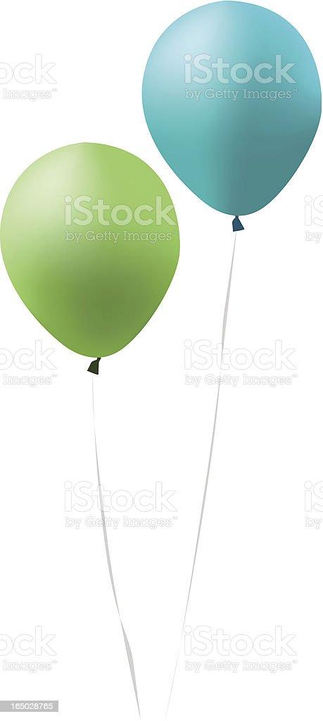 Blue And Green Balloomn