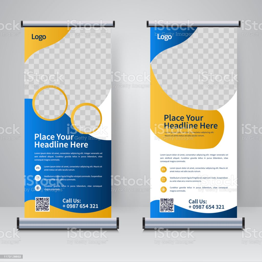 Rollup banner pop up banner, web banner, banner template, flyer template, banners. Roll Up Banner 546 Free Vectors To Download Freevectors