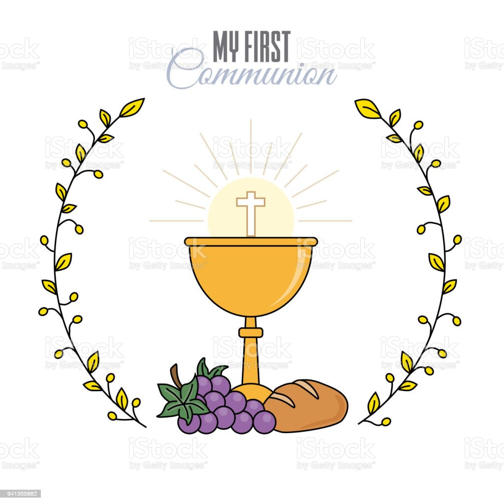 card my first communion invitation stock illustration download image now istock