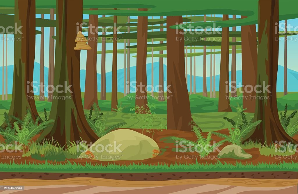 It is home to one of the province's two protectors, faron the light spirit. Cartoon Classic Forest Woods Landscape With Trees Grass And Stones Vektorgrafik Och Fler Bilder Pa Arrangera Istock