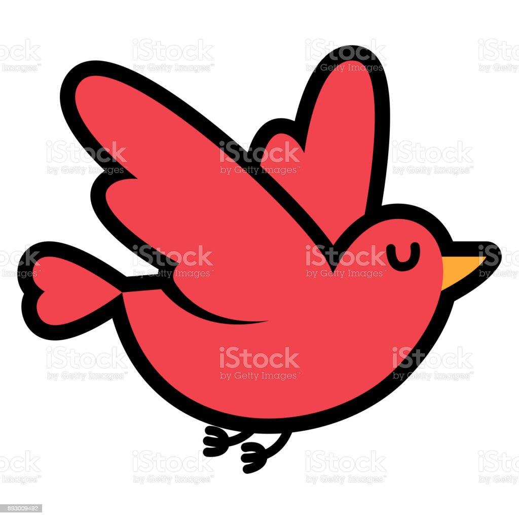 白色背景的卡通可愛的小鳥 向量插圖及更多 低於標準桿1桿 圖片 893009492 | iStock