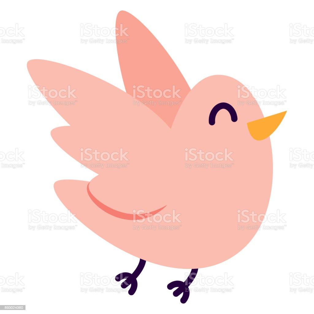 白色背景的卡通可愛的小鳥 向量插圖及更多 低於標準桿1桿 圖片 893024360 | iStock