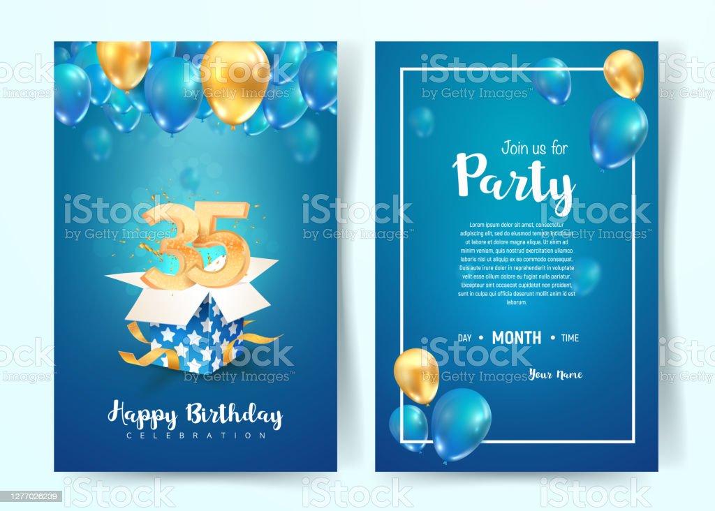 birthday invitation vector art graphics freevector com