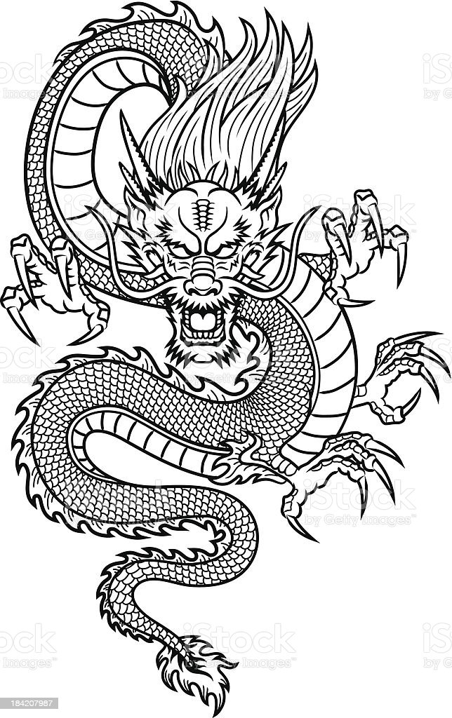 Chinese Dragon Stock Vector Art Amp More Images Of Anger
