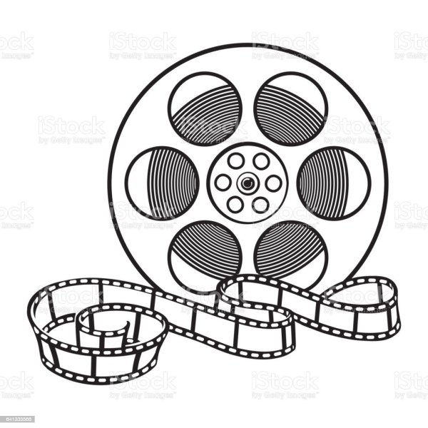 Classical Motion Picture Cinema Film Reel Sketch Style ...