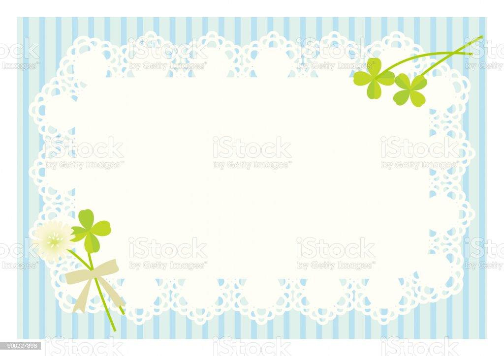 三葉草和花邊背景插圖向量圖形及更多三葉草圖片 - iStock