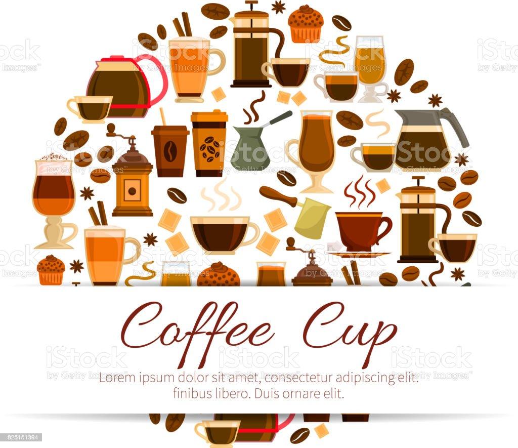 https www istockphoto com vector coffee poster of espresso latte hot drinks cups gm825151394 133739025