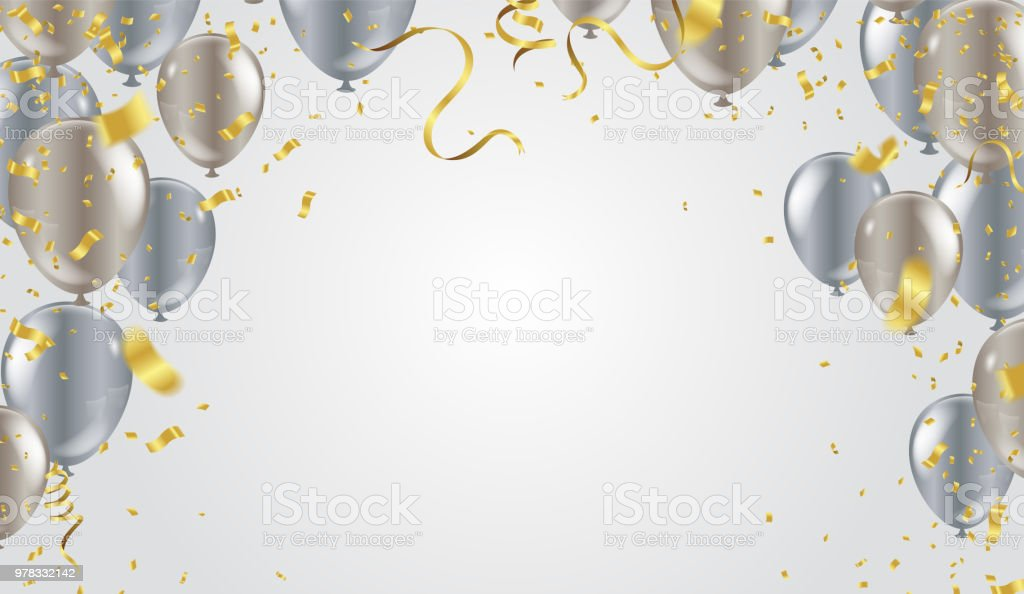 Black And Silver Birthday Background