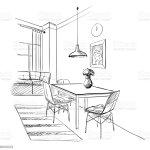 Contemporary Kitchen Modern Interior Stock Illustration