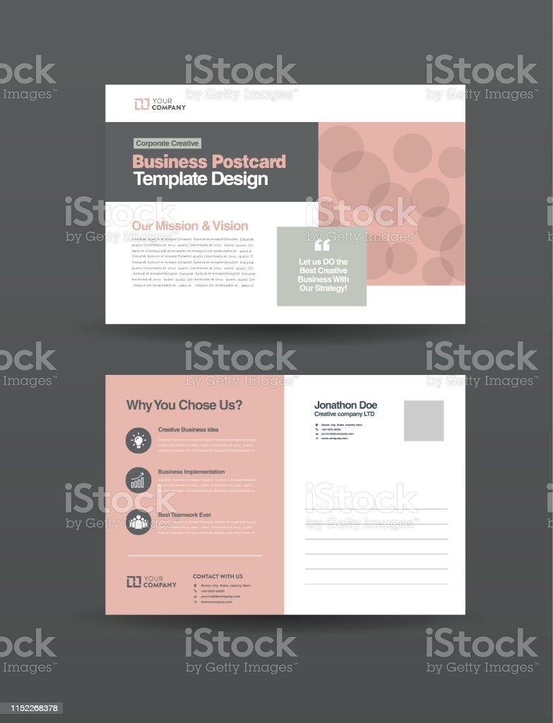 entreprise professionnelle carte postale design conception de cartes devenement publipostage eddm modele invitation design vecteurs libres de droits et plus d images vectorielles de abstrait istock