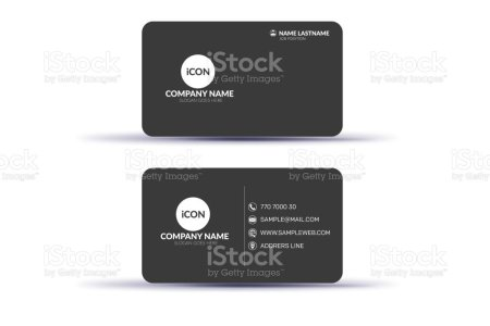 Creative Double Sided Business Card Template Design Stock Vector Art     Creative Double sided Business Card Template Design royalty free creative double  sided business card template