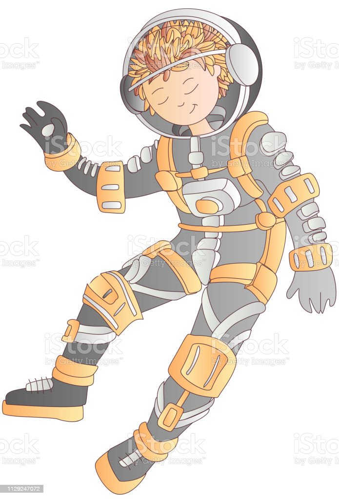 Royalty Free Baby Astronaut Clip Art, Vector Images ...