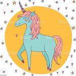 Cute Vector Unicorn Kawaii Style Illustration With Imaginary Horse Stock Illustration Download Image Now Istock